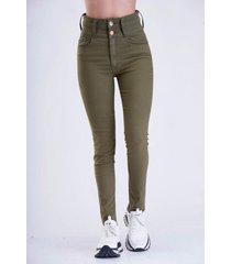 jean verde sochic skinny gabardina