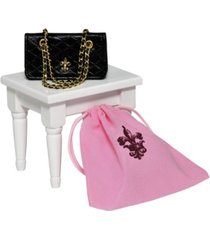 "the queen's treasures 18"" doll clothes accessories, quilted designer handbag purse"