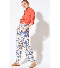 pantalón azul system fleur