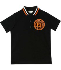 fendi black polo shirt teen