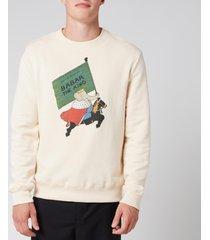 lanvin men's babar sweatshirt - ecru - l