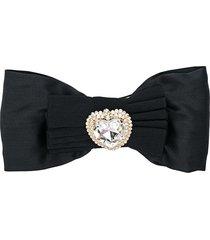 alessandra rich bow-detail hair clip - black