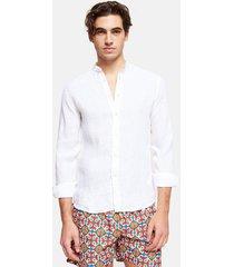 shirt spiaggia bianca linen