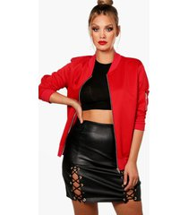 plus scuba bomber jacket, red