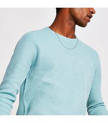 mens only and sons bright blue knitted sweatshirt