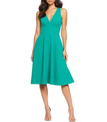 women's dress the population catalina fit & flare cocktail dress, size x-small - green
