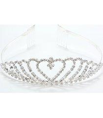 elegante da sposa tiara nuziale con strass crystal crown pageant prom capelli fascia per capelli