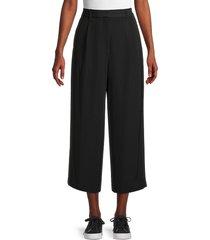 rag & bone women's cropped pants - black - size 12
