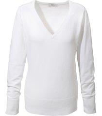 maglione in filato fine con scollo a v (bianco) - bpc bonprix collection