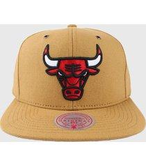 gorro nba chicago bulls js61 beige mitchell and ness