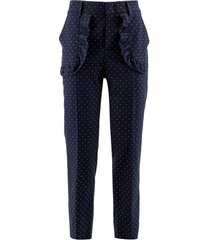 red valentino cotton-wool blend trousers