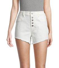 vigoss women's ace high-rise denim shorts - white - size 25 (2)