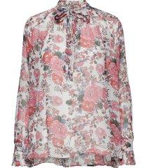 lea blouse lange mouwen roze custommade