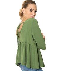 blusa verde miss bling babydoll
