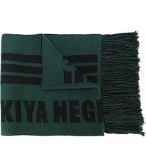 adish striped pattern scarf - green