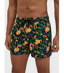 happy socks leopard swim shorts badkläder mönstrad