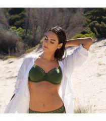 lise charmel badmode ajourage couture bikini top groen aba3515
