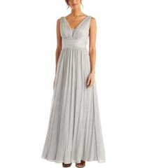 morgan & company juniors' pleated rhinestone gown