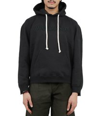 jw anderson black inside out hoodie