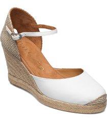 castilla_21_cre sandalette med klack espadrilles vit unisa