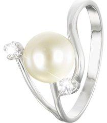 anello in oro bianco e perla per donna