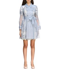 red valentino coat red valentino short trench coat in point desprit tulle