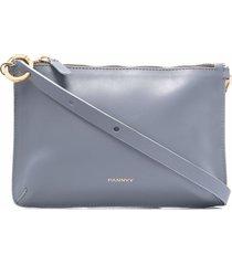 pannyy liliya braided-handle cross body bag - grey
