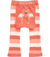 meia calça legging flamingo blade and rose laranja