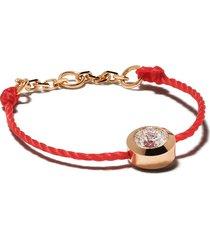 redline 18kt rose gold pure diamond string ring