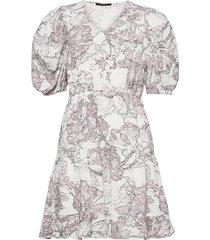 posy olivine dress kort klänning vit bruuns bazaar