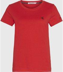 polera calvin klein jeans mc rojo - calce slim fit