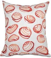 clams 16 inch orange decorative coastal throw pillow