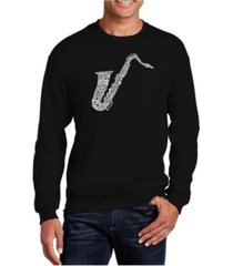 la pop art men's word art sax crewneck sweatshirt