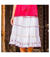 cotton skirt, 'colorful blossoms' (india)