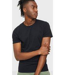 selected homme slhnewpima ss o-neck tee b 3 pack n t-shirts & linnen svart