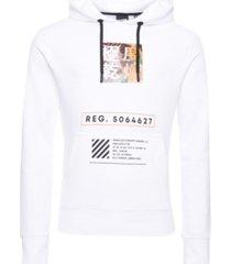 superdry stacked kanji loopback men's hoodie