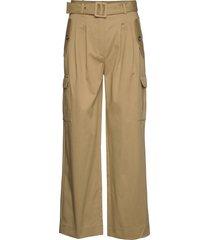 cargo pants wijde broek beige birgitte herskind