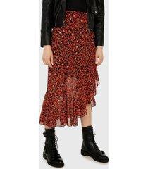 falda negro-rojo-verde paris district