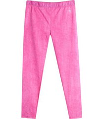leggings deportivo flores color rosado, talla xxl