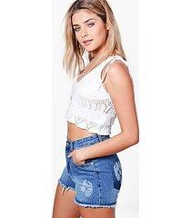 cassie paisley print pocket mom shorts