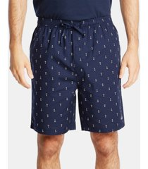 nautica men's cotton anchor-print pajama shorts