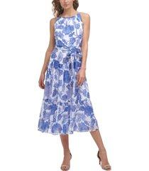 jessica howard floral-print midi dress