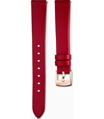 cinturino per orologio 14mm, rosso, pvd oro rosa
