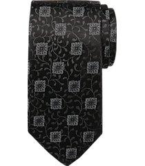 joseph abboud voyager black medallion & vine narrow tie