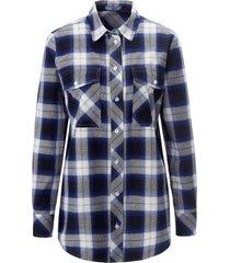 lange blouse 100% katoen lange mouwen van day.like blauw