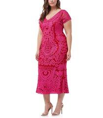 plus size women's js collections soutache trumpet dress