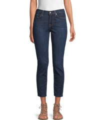 7 for all mankind men's roxanne ankle jeans - oxford blue - size 26 (2-4)