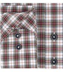 sleeve7 heren overhemd rood en wit geruit modern fit