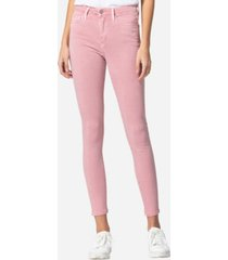 vervet high rise vintage-like spring pink color skinny jeans