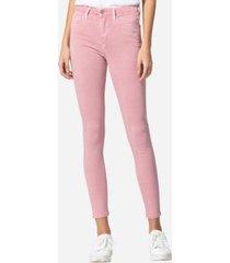 vervet high rise vintage-like spring pink color skinny jeans